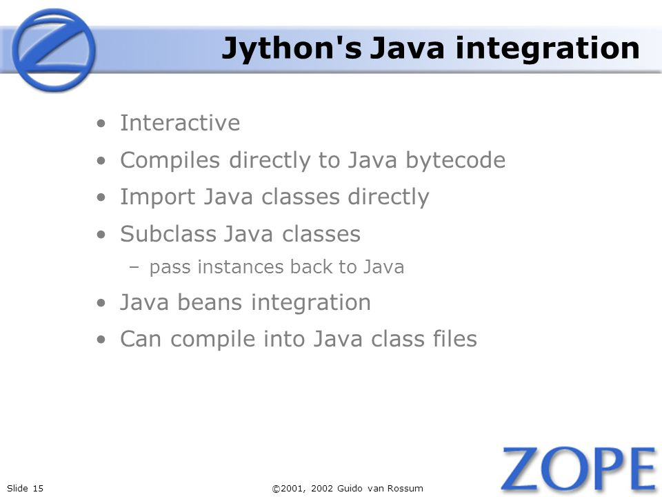 Jython s Java integration