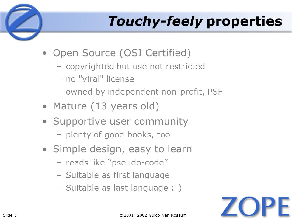 Touchy-feely properties