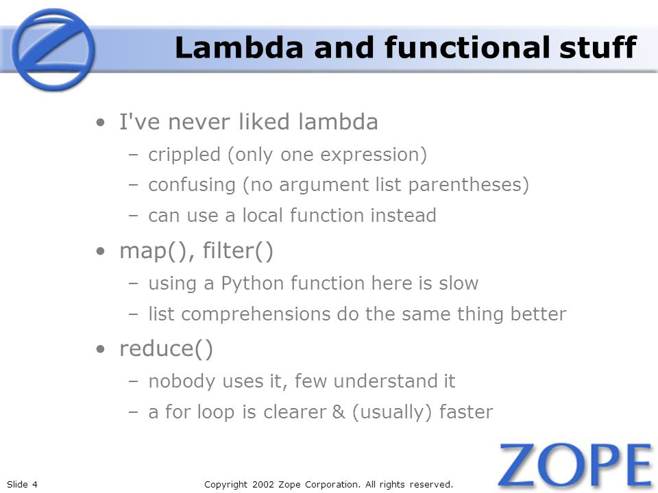 Lambda and functional stuff