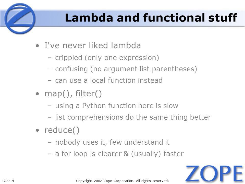 Lambda and functional stuff
