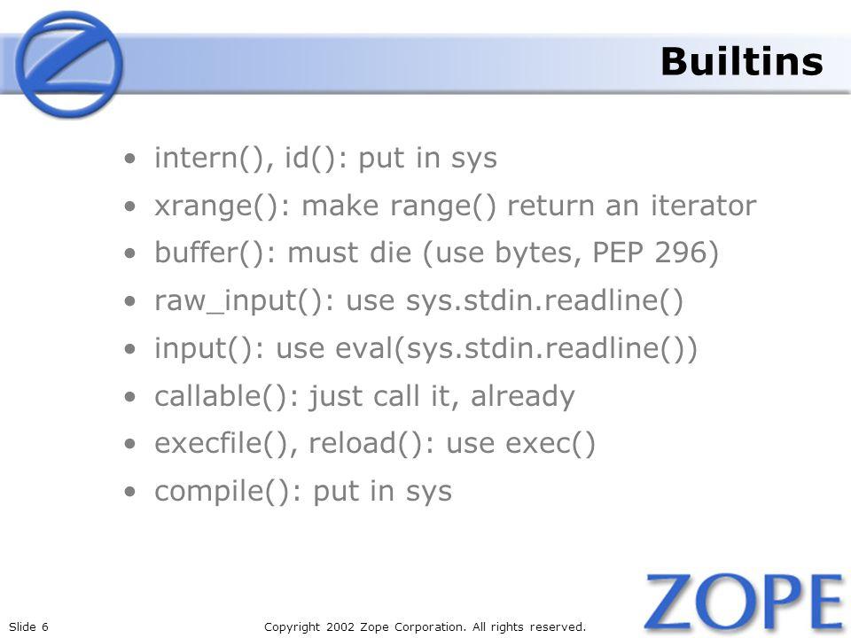 Builtins intern(), id(): put in sys