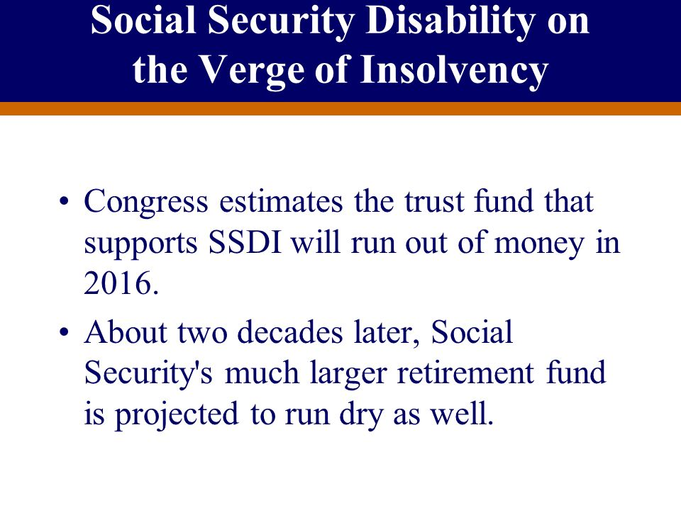 Social Security Disability on the Verge of Insolvency