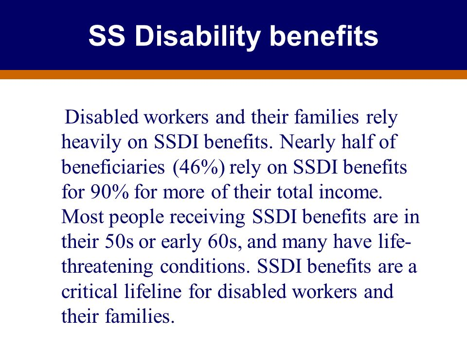 SS Disability benefits