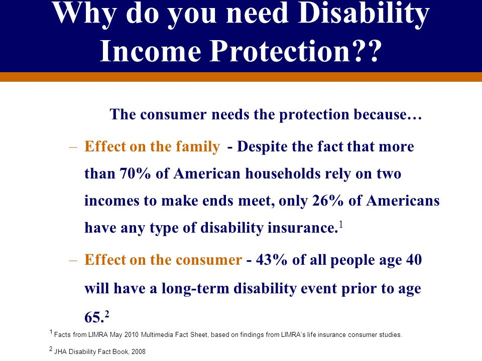 Why do you need Disability Income Protection