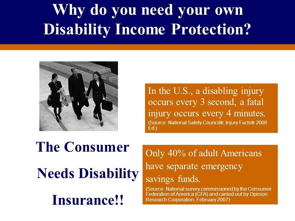Why do you need your own Disability Income Protection