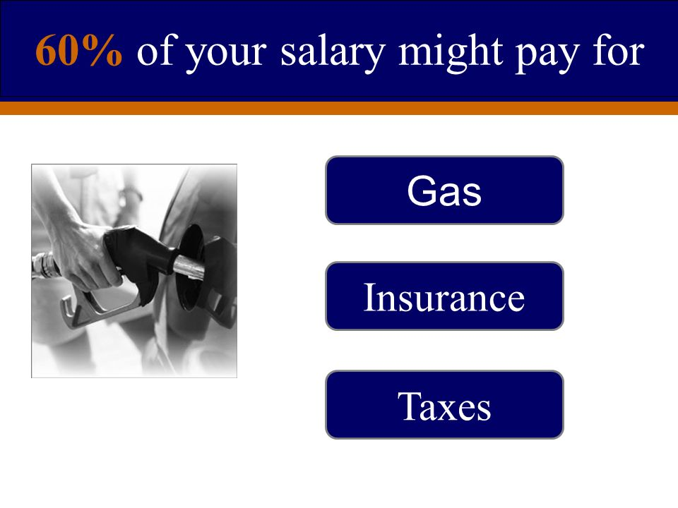 60% of your salary might pay for