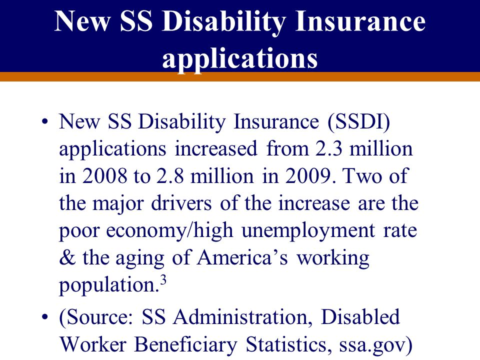 New SS Disability Insurance applications