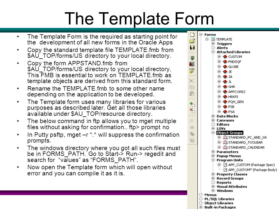 Oracle apps standard for forms ppt download for Resource directory template