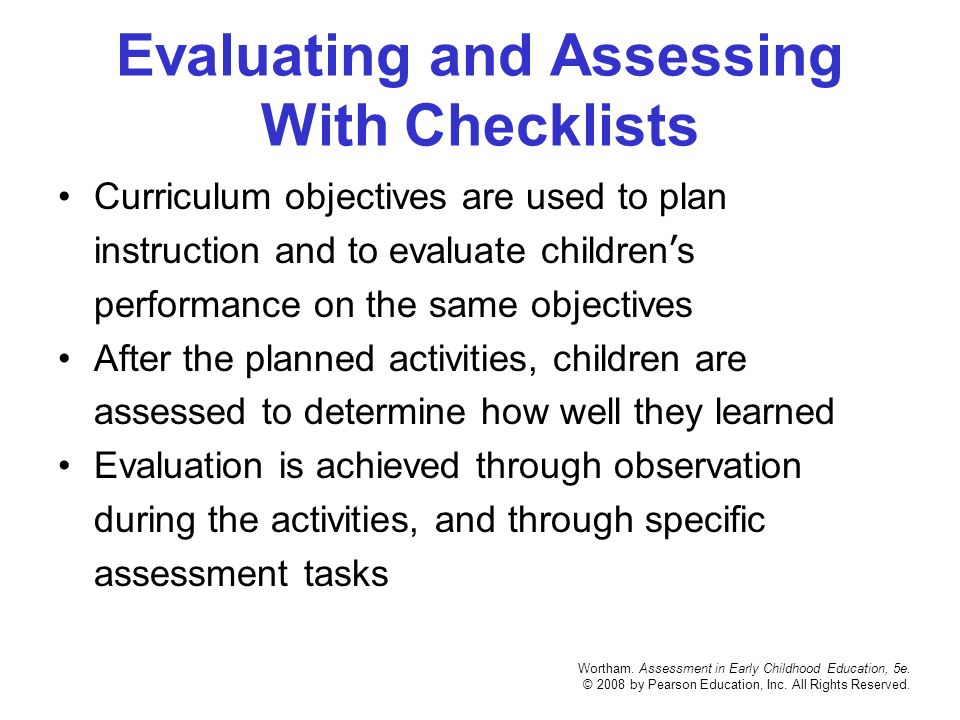 early childhood assessments how we use Awkward attempts to try new skills or early chapter 3 observing children: a tool for assessment 55 tools that are used in early childhood.