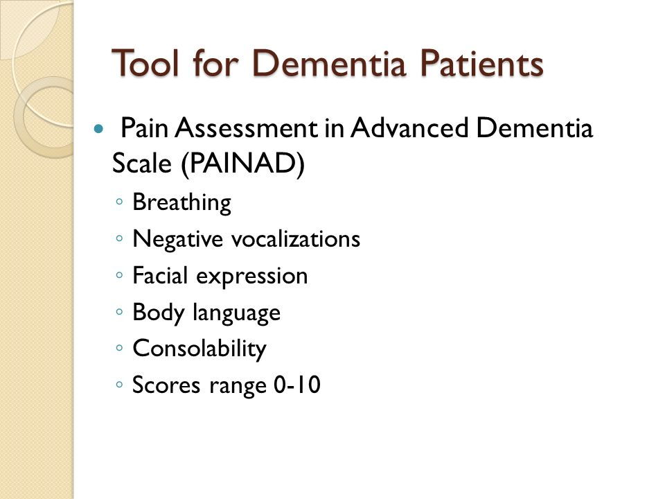 Tool for Dementia Patients