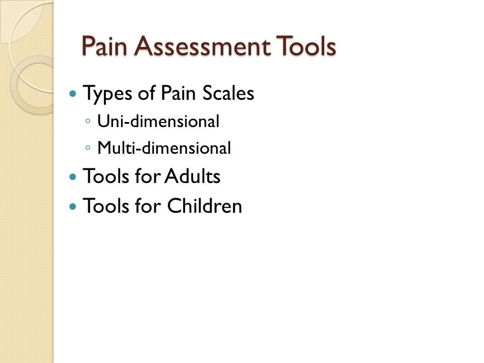 Pain Assessment Tools Types of Pain Scales Tools for Adults