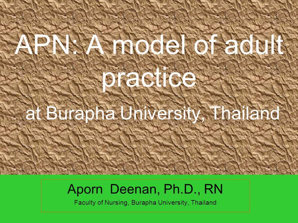 APN: A model of adult practice at Burapha University, Thailand