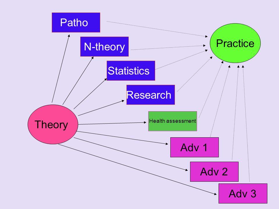 Patho Practice N-theory Statistics Research Theory Adv 1 Adv 2 Adv 3