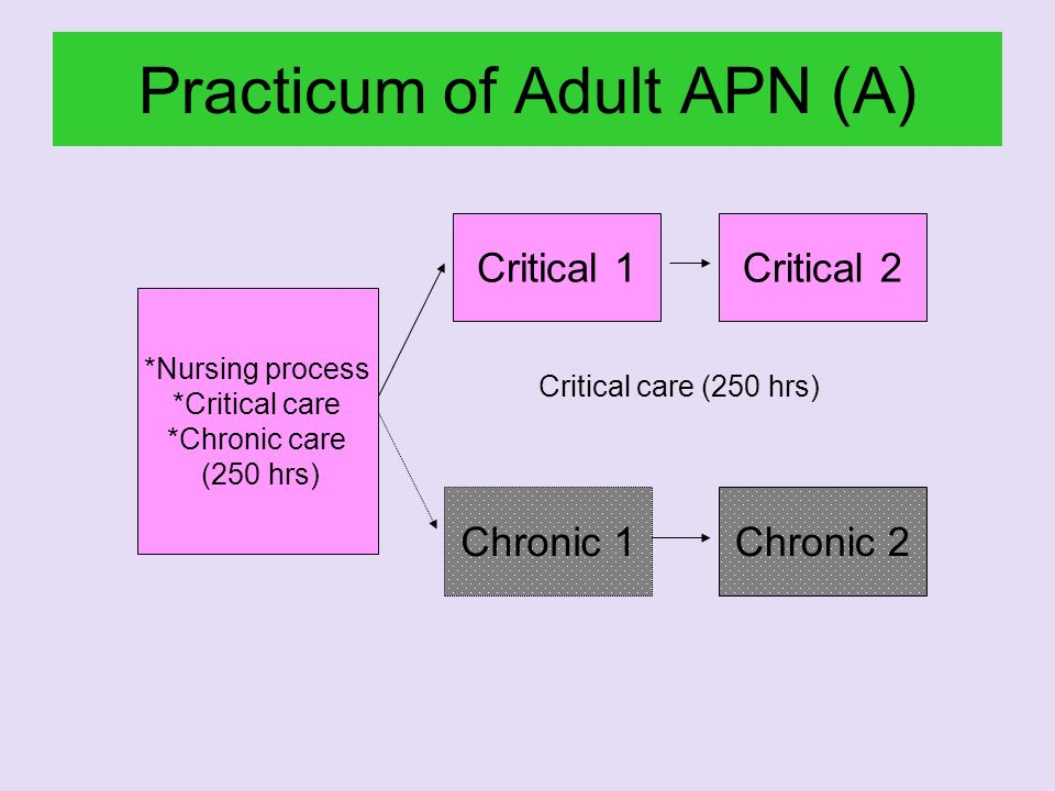 Practicum of Adult APN (A)