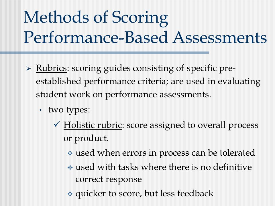 performance based assessment Instead of superficially assessing what students know and can do on a bubble test, performance-based assessments measure a student's knowledge and skills in a deep and meaningful way over time just as important, they promote student and teacher ownership, essential to student engagement.