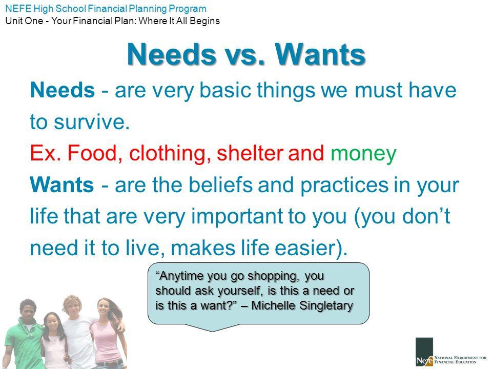 Unit 1 - Your Financial Plan: - ppt video online download