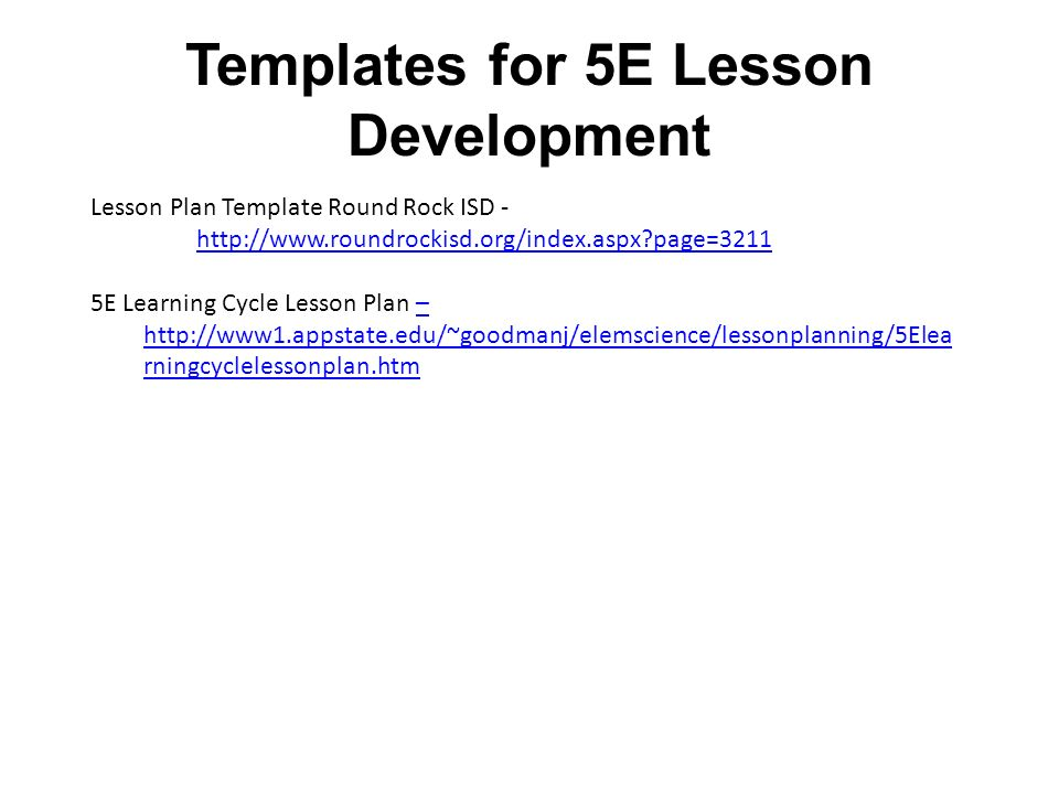 Templates For E Lesson Development Ppt Video Online Download - 5 e lesson plan template