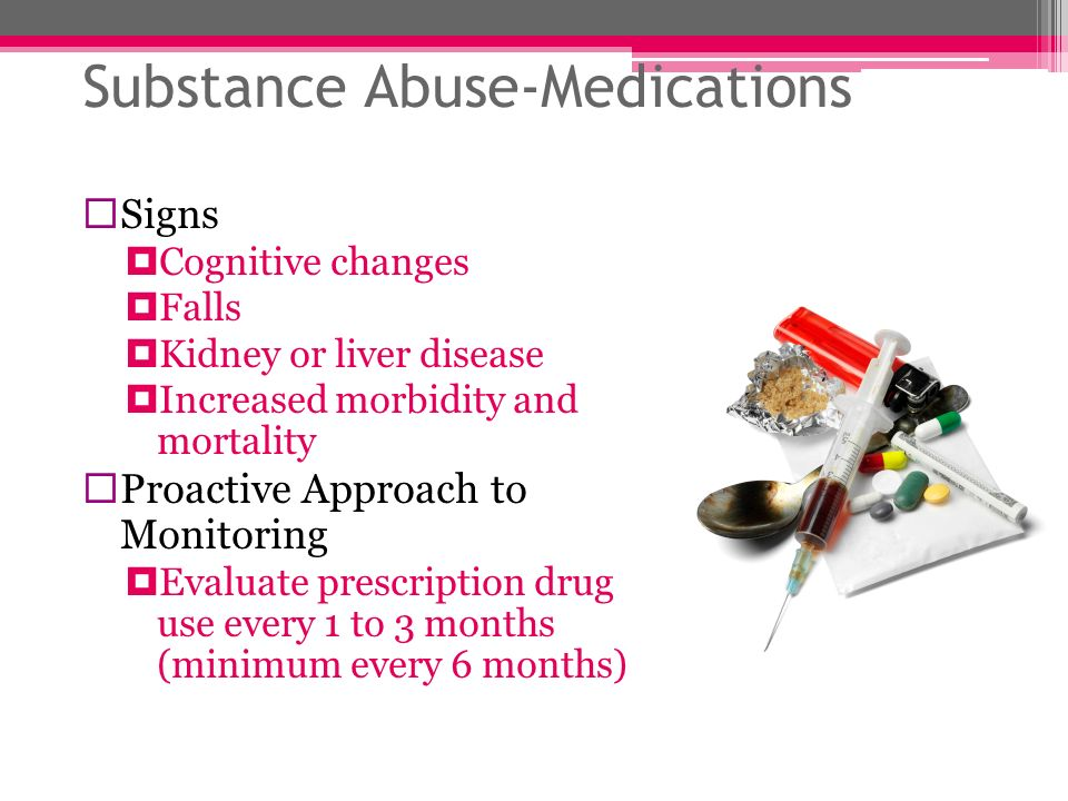 Substance Abuse-Medications