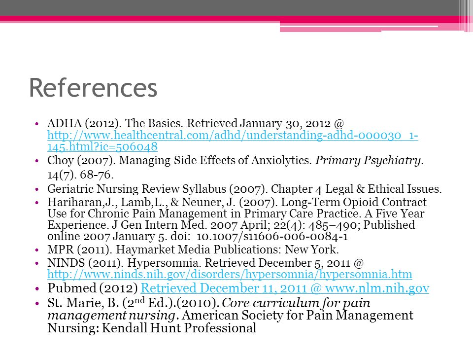 References Pubmed (2012) Retrieved December 11,