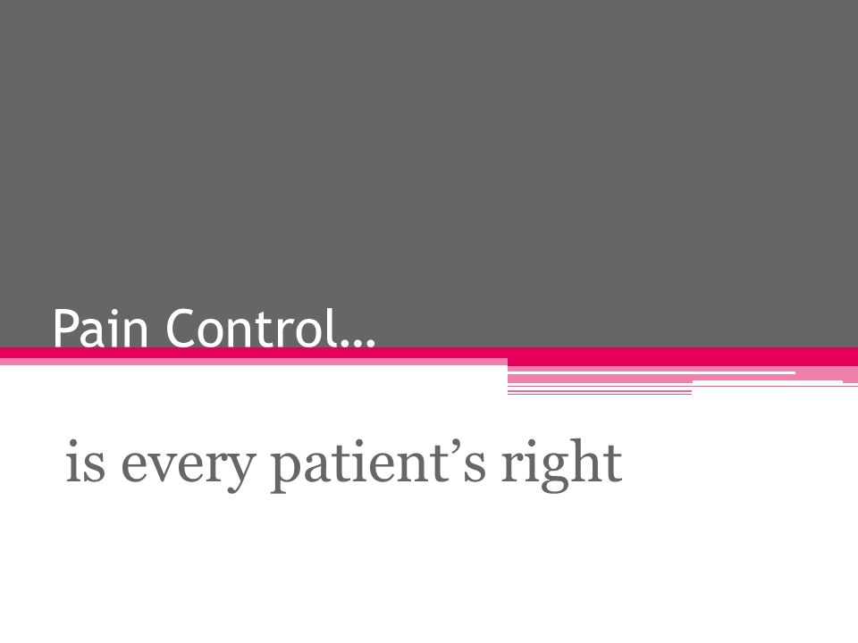 is every patient's right