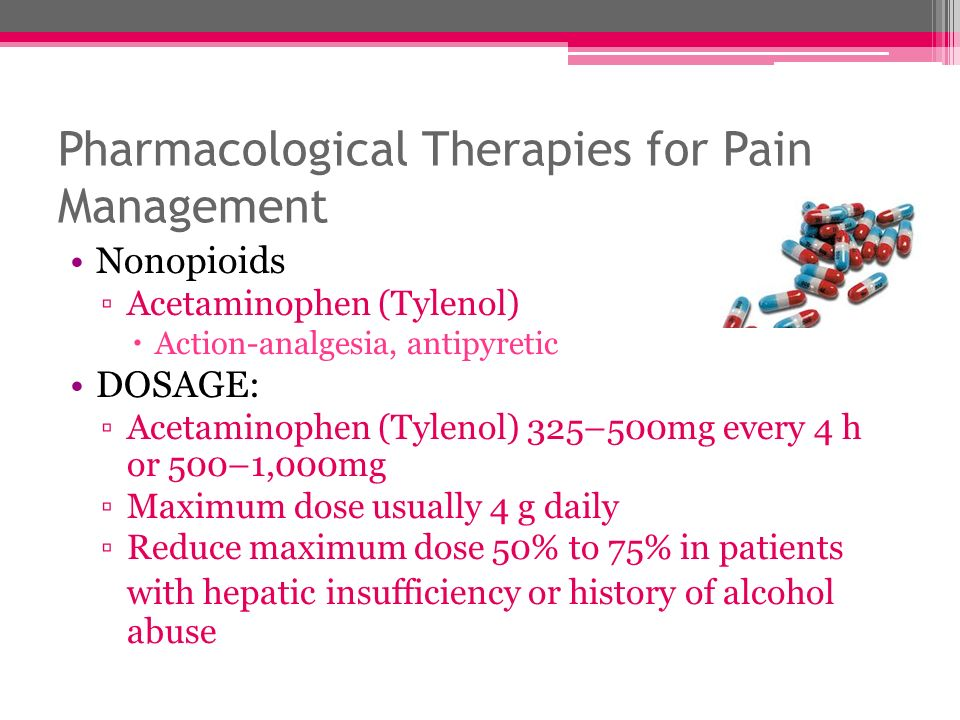 Pharmacological Therapies for Pain Management