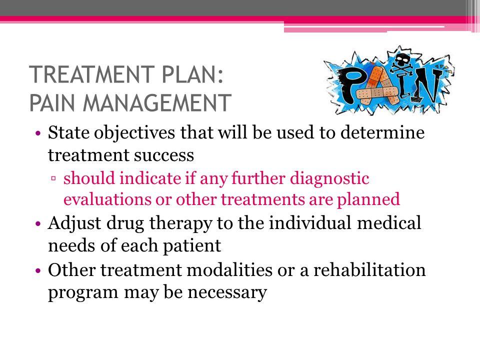 TREATMENT PLAN: PAIN MANAGEMENT