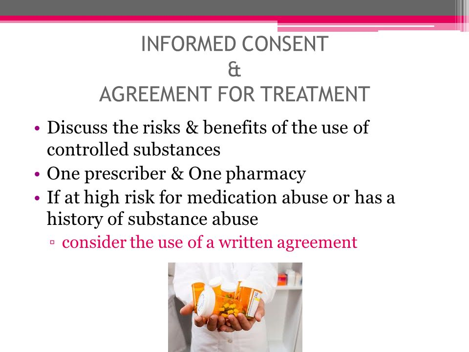 INFORMED CONSENT & AGREEMENT FOR TREATMENT