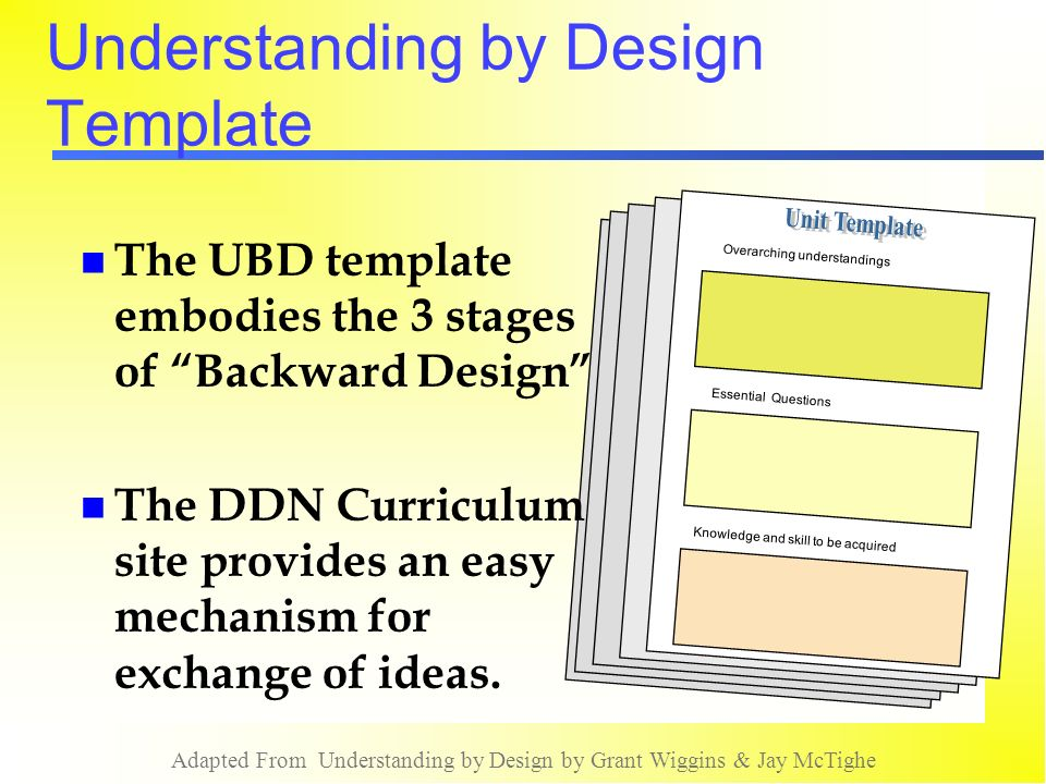 an understanding of design What is understanding and how does it differ from knowledge how can we determine the big ideas worth understanding why is understanding an important teaching goal, and how do we know when students have attained it.