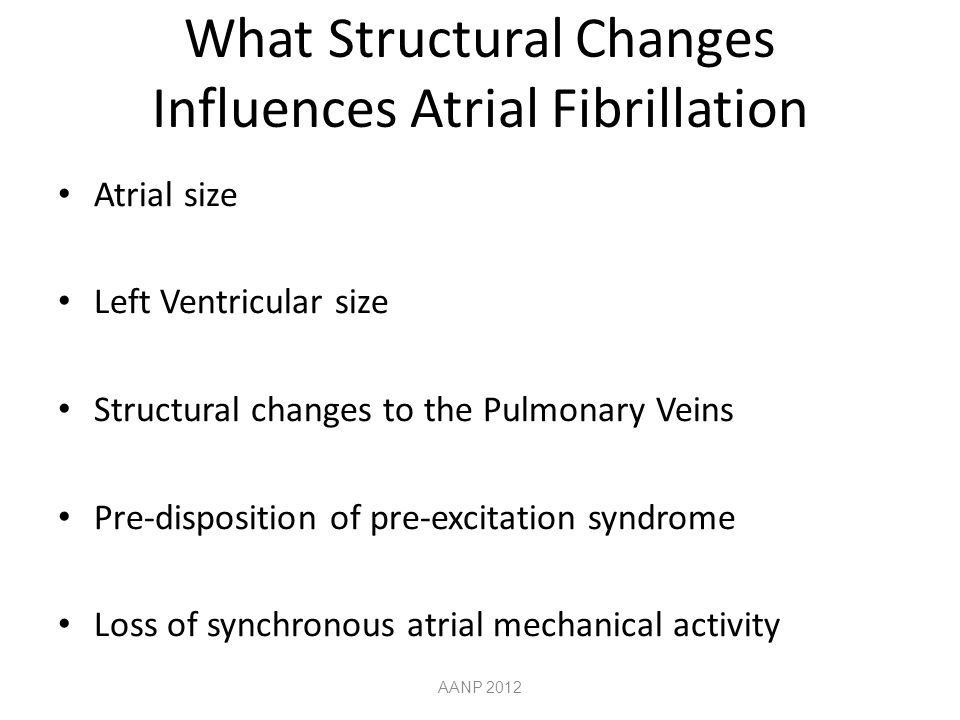 What Structural Changes Influences Atrial Fibrillation