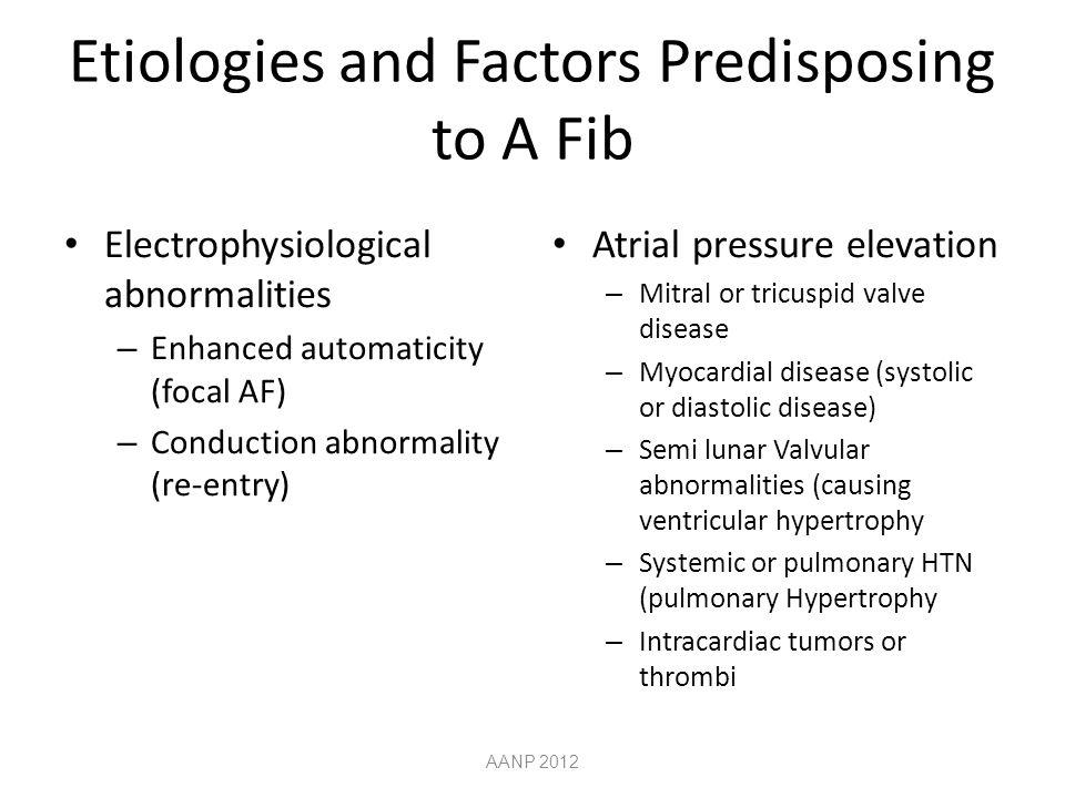 Etiologies and Factors Predisposing to A Fib
