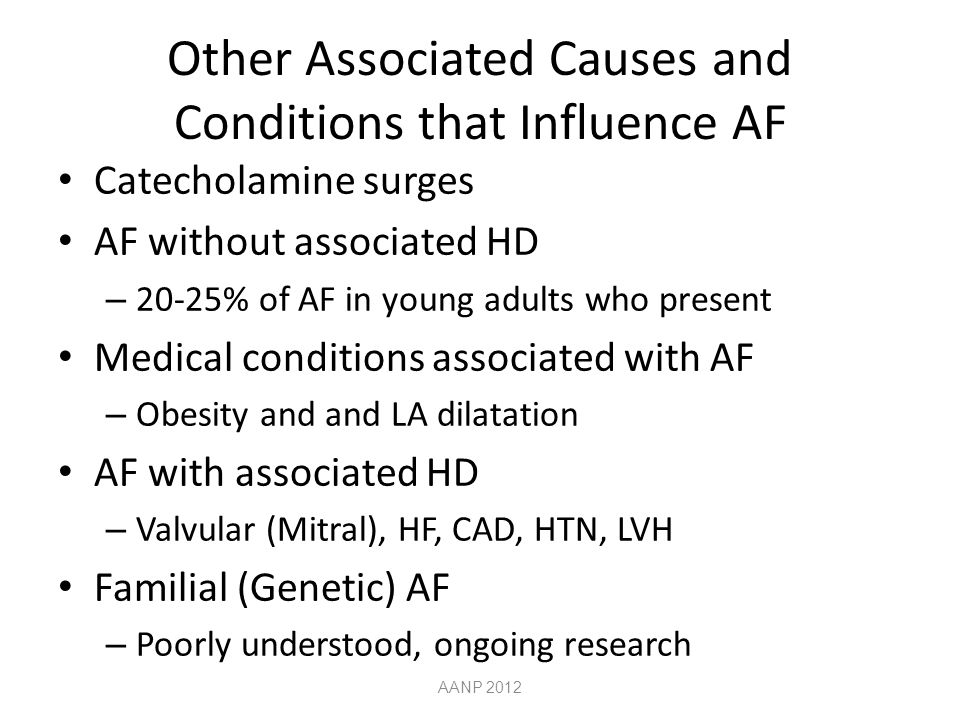 Other Associated Causes and Conditions that Influence AF