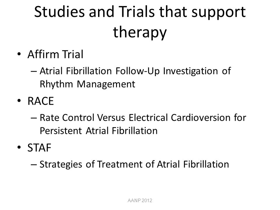 Studies and Trials that support therapy