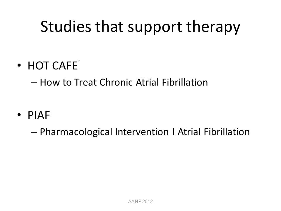 Studies that support therapy