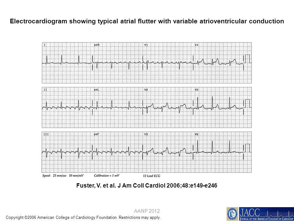 Fuster, V. et al. J Am Coll Cardiol 2006;48:e149-e246