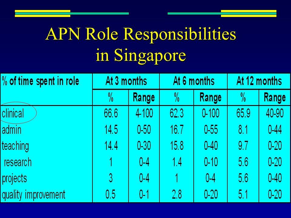 APN Role Responsibilities in Singapore