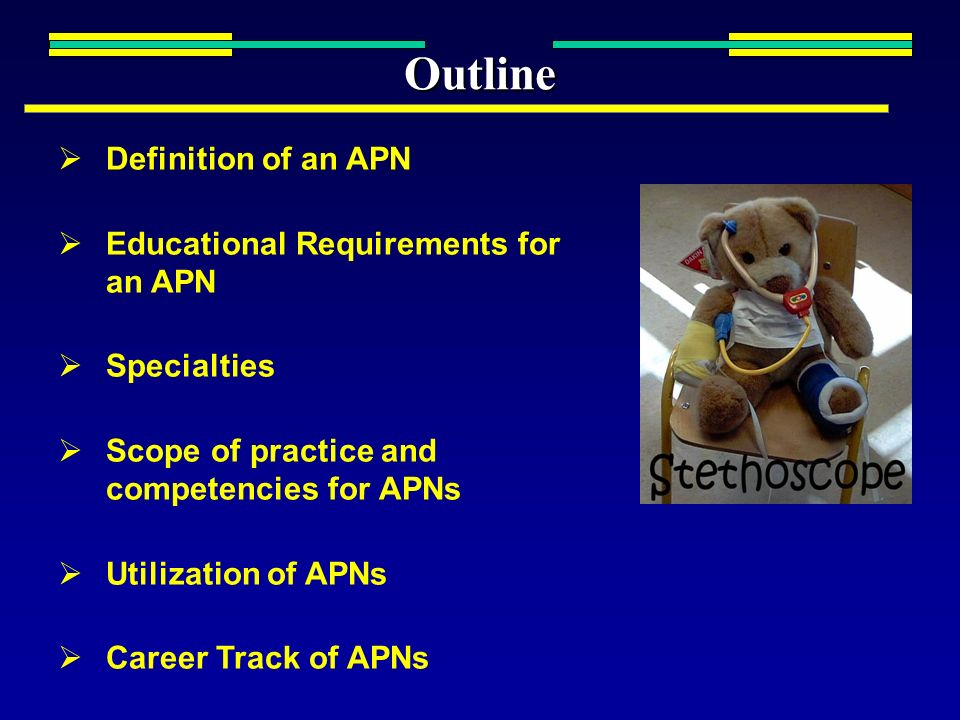Outline Definition of an APN Educational Requirements for an APN