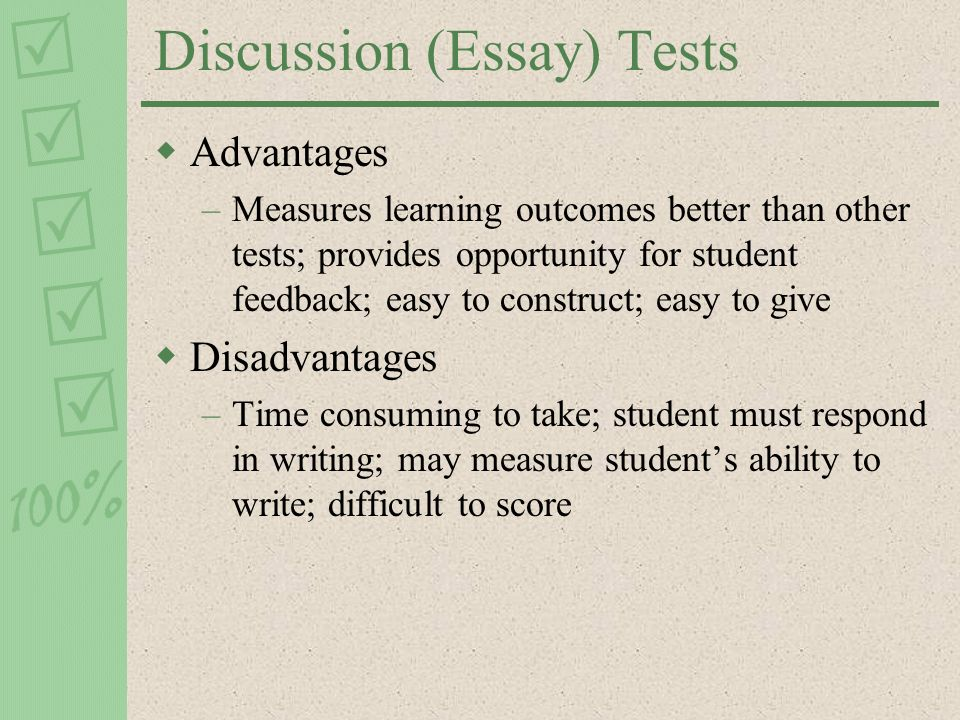 construct essay test Give your students clear guidelines for how to answer the essays when you write your questions, think about how you want your students to answer them.
