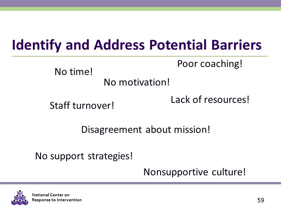 identify what barriers there could be Barriers to effective communication knowing the barriers to effective communication is the first step in learning how to improve your communication skills although there are many kinds of barriers to communication, most are characterized by not being present to what's being said, or simply by not listening.