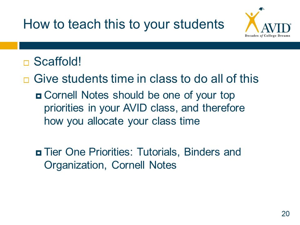 how to teach cornell notes