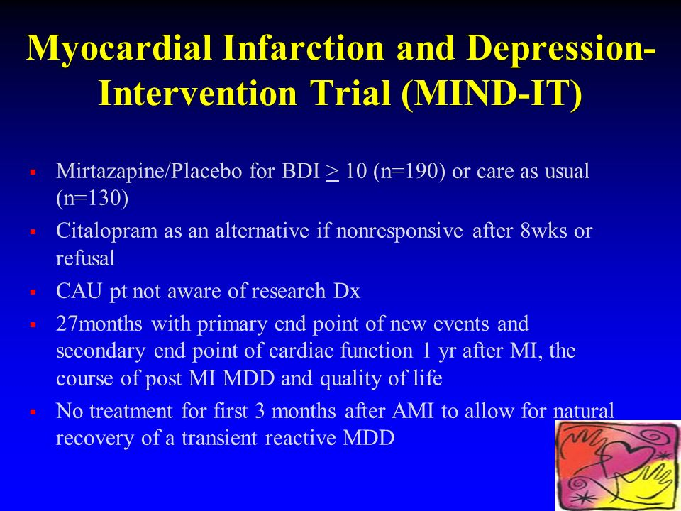 Myocardial Infarction and Depression-Intervention Trial (MIND-IT)