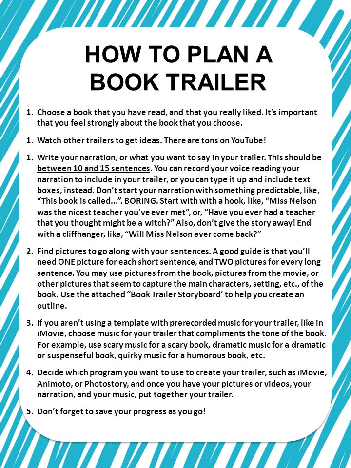 how to make a book trailer