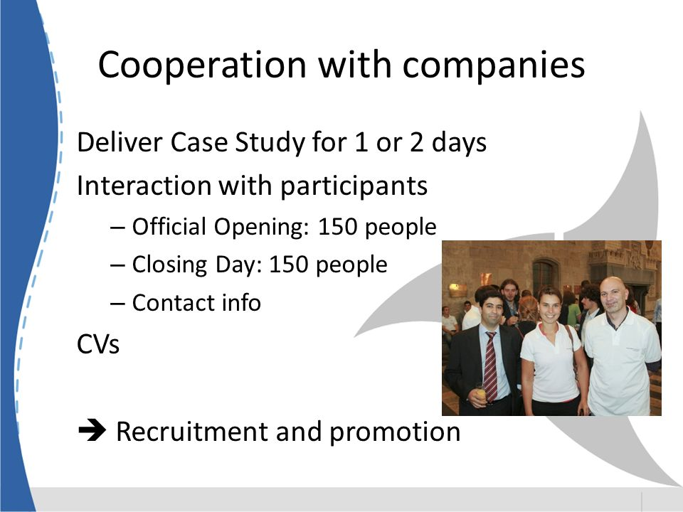 Cooperation with companies