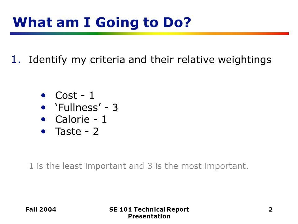 how to write a good technical report ppt