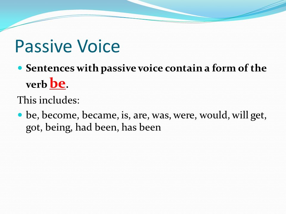 passive voice in research papers