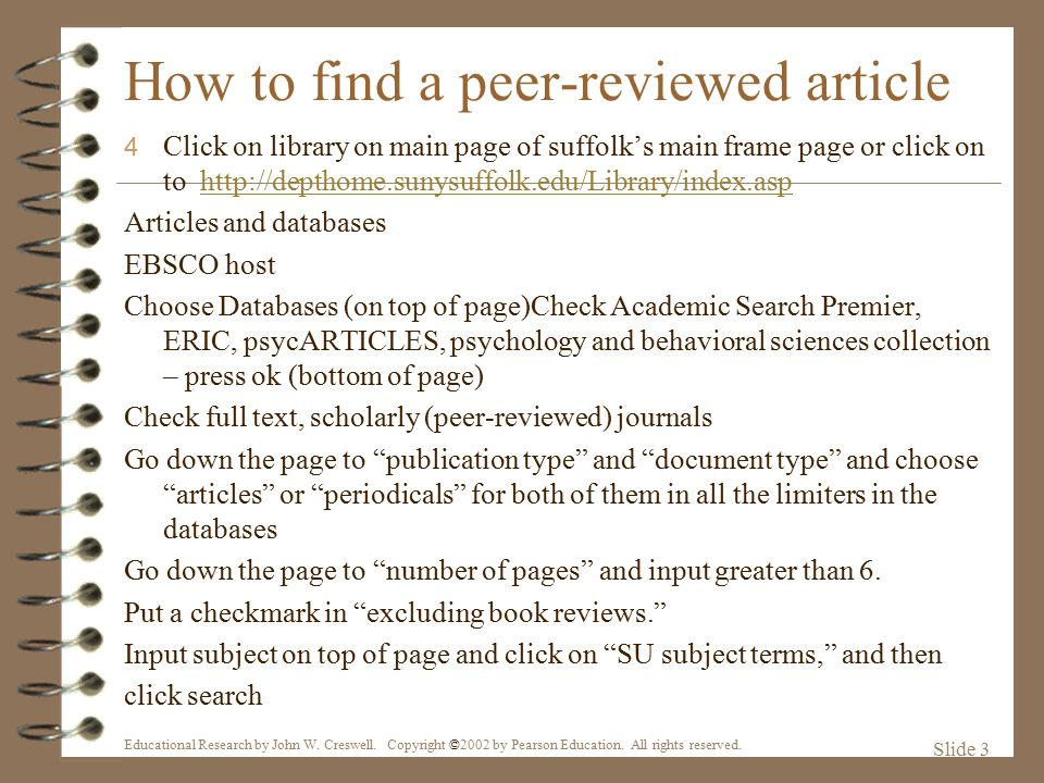 peer reviewed research article What are empirical research articles  peer reviewed or primary  the final determination of whether or not a particular article is empirical is a judgement that.