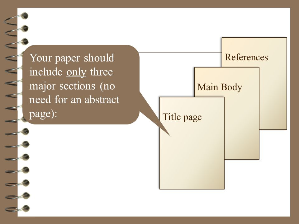 does an apa style paper have to have an abstract Click on apa sample paper, then scroll to page 2 to see the example abstract apa formatting and style guide here's an example provided by the american psychological association: page on apastyleorg here's an additional link to the purdue owl about writing an abstract (you'll have to scroll down.