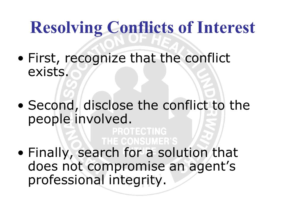Resolving Conflicts of Interest