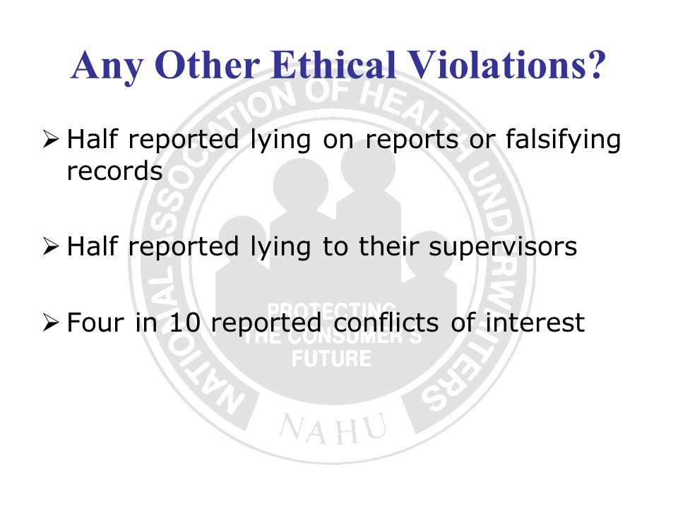 Any Other Ethical Violations