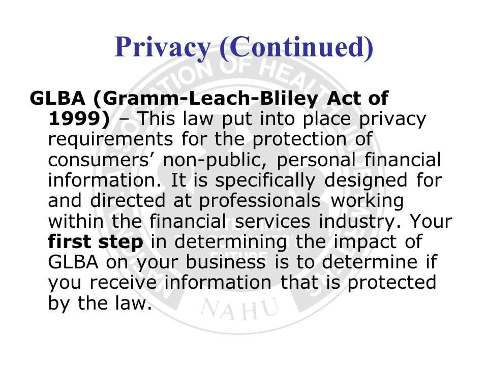 Privacy (Continued)