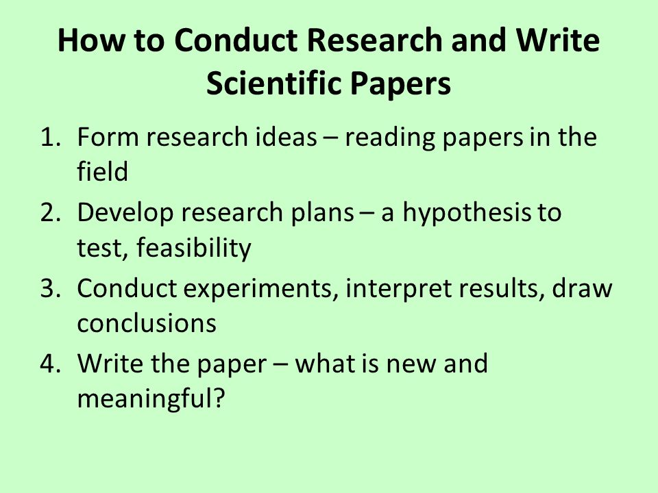 guide to writing a science research paper Reference on writing the political science research paper: types of political science writing a guide to developing and writing research papers in.